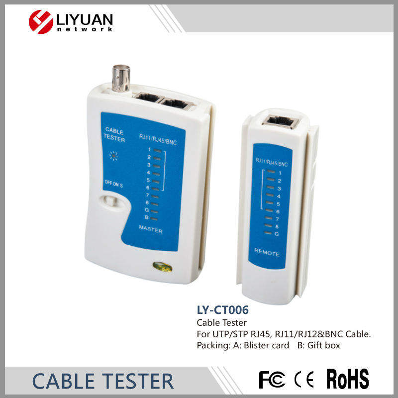 LY-CT006 cable tester/RJ11/RJ12 y cables BNC probador