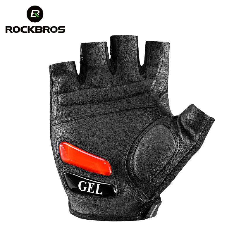 ROCKBROS Cycling Gloves with Silicone Gel Thickened Pad SBR Shockproof Anti-slip Sports Gloves