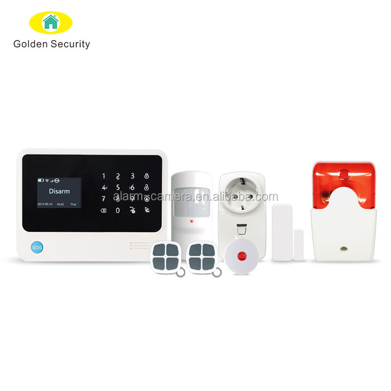2017 hohe qualität Alexa WiFi/GSM smart home security system, Central monitoring station drahtlose wifi/sms alarm system