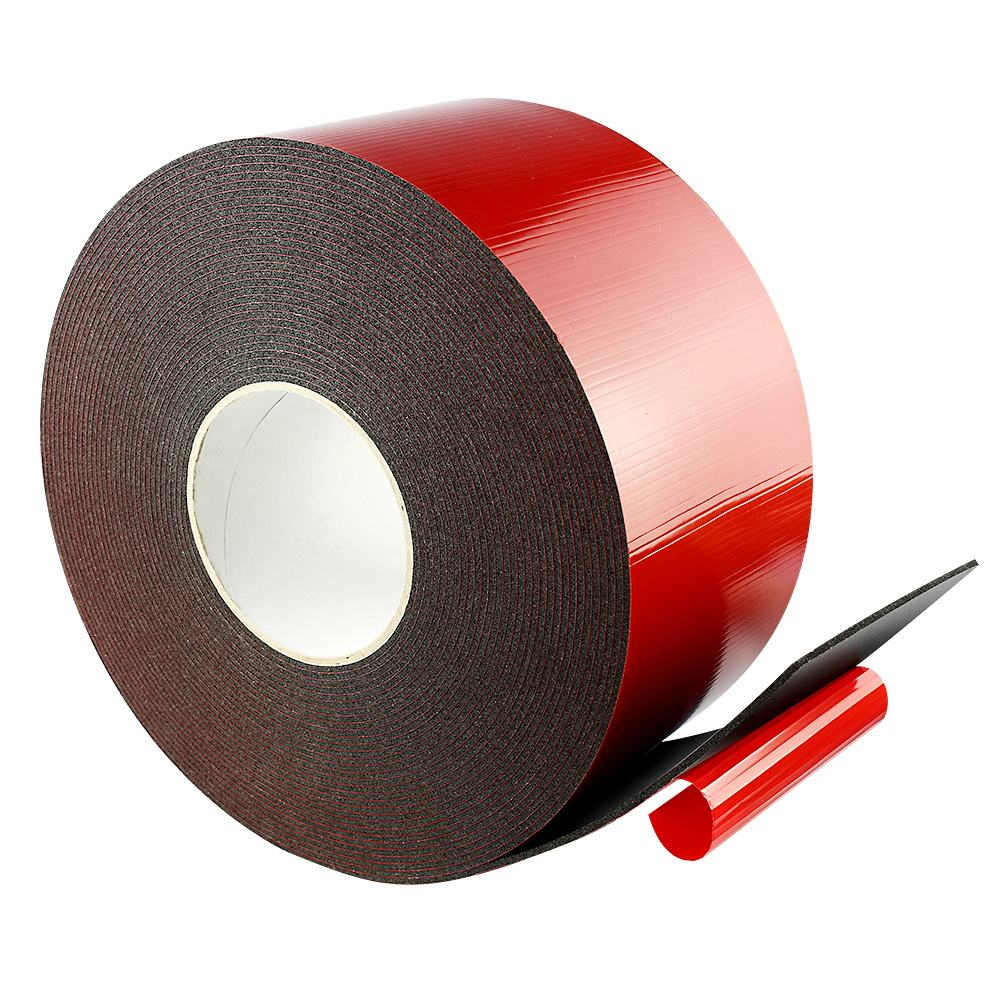 Red Film Double Sided PE Foam Spools Glazing Tape Sealant Tape for Furniture