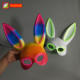Night Club Accessories Sound Active Led Bunny Rabbit Mask Music Festival Neon Rabbit Masks Make Up Carnaval Props