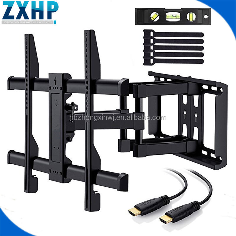 TV Wall Mount Bracket Full Motion Dual Articulating Arm for most 37-70 Inch LED, LCD, OLED, Flat Screen,Plasma TVs up to 120lbs
