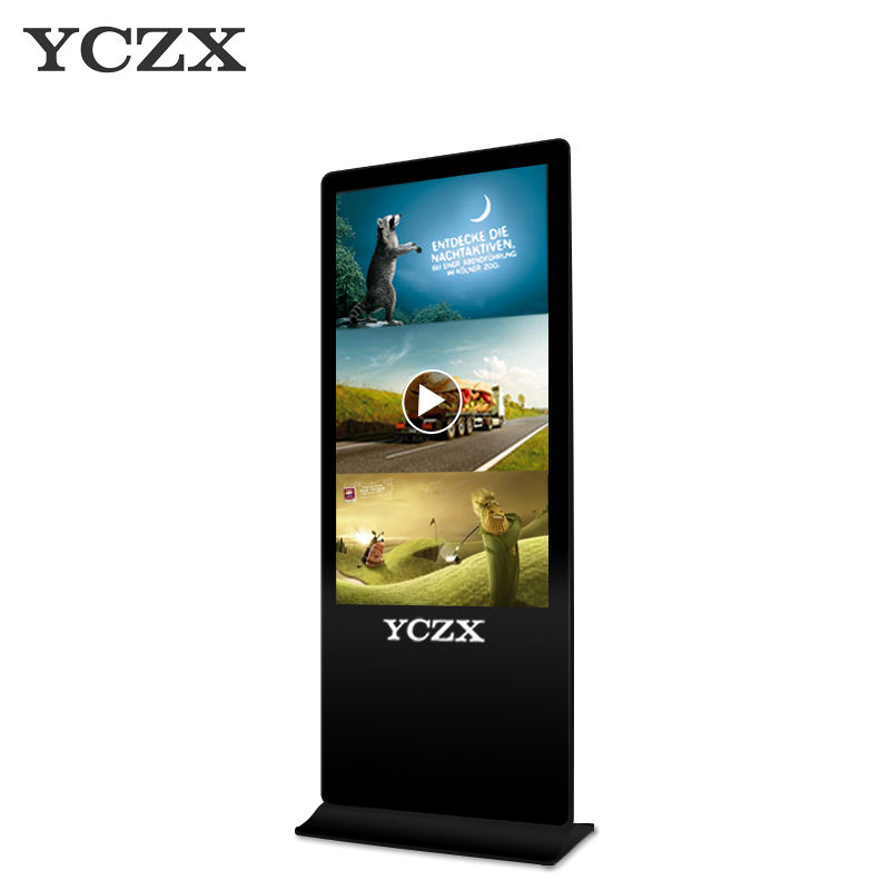 55 inch multi touch Remote release floor standing lcd led touch screen display advertising digital signage media player