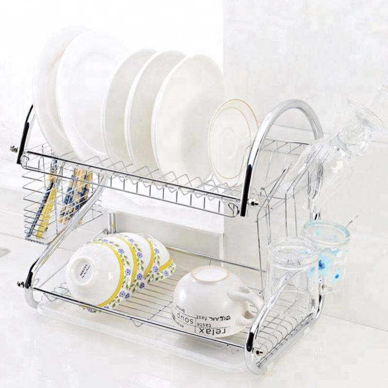 Drying 2 Tier Diying Roll Up Dish Rack
