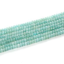 Faceted Amazonite Abacus Beads,Rondelle Shape Gemstone Beads Amazon Stone Beads For Jewelry Making