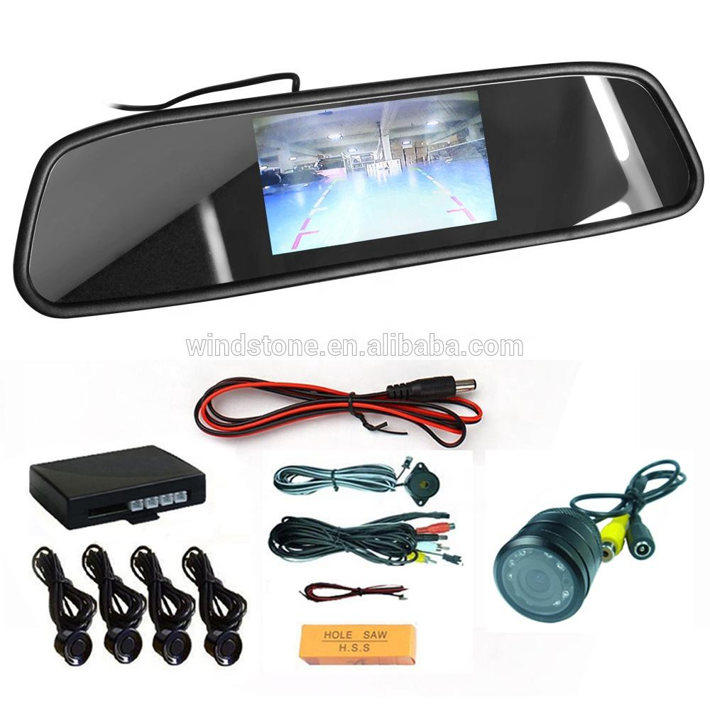 HD Video Auto Parking Reverse Camera Monitor 4.3 inch Car Mirror Monitor For Rear View Camera