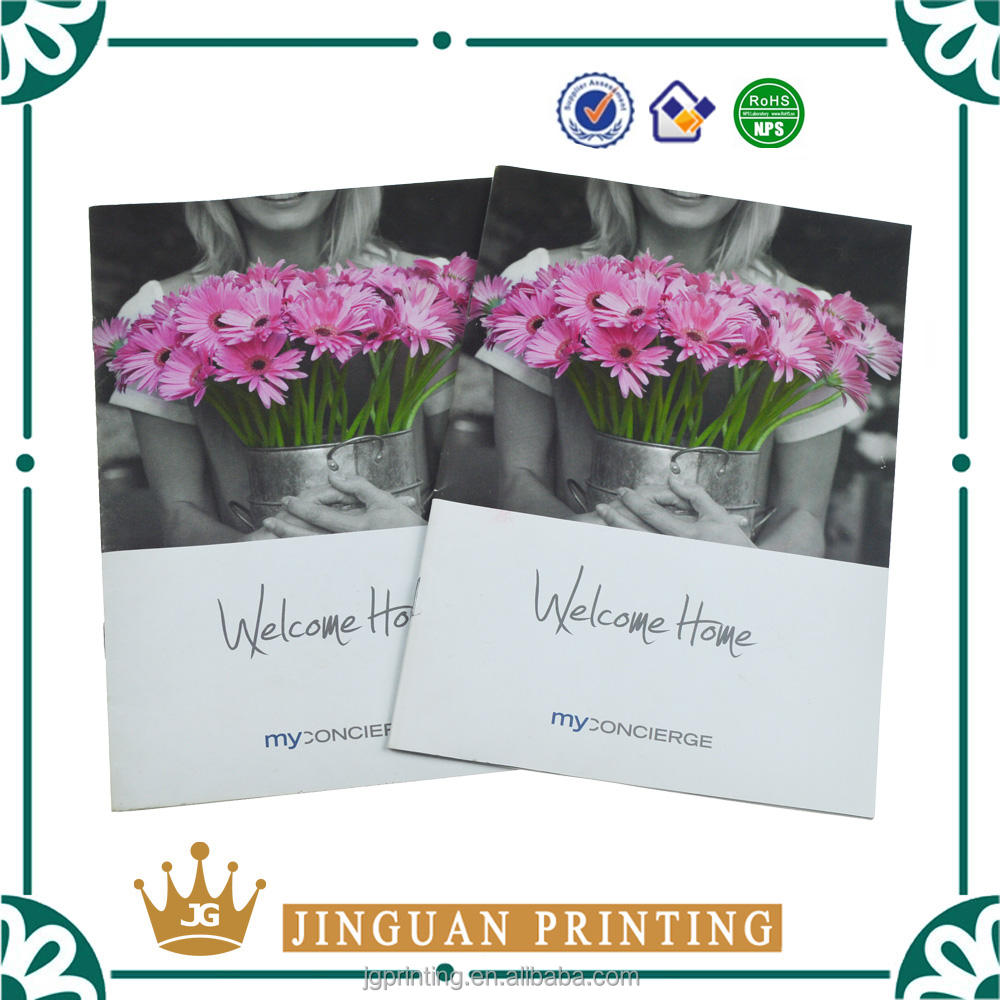 Foldable leaflet custom full color flyer high quality advertising booklet printing brochure