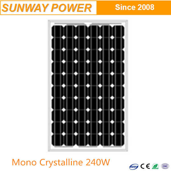 Most popular Mono Crystalline solar panels 240W with long time warranty