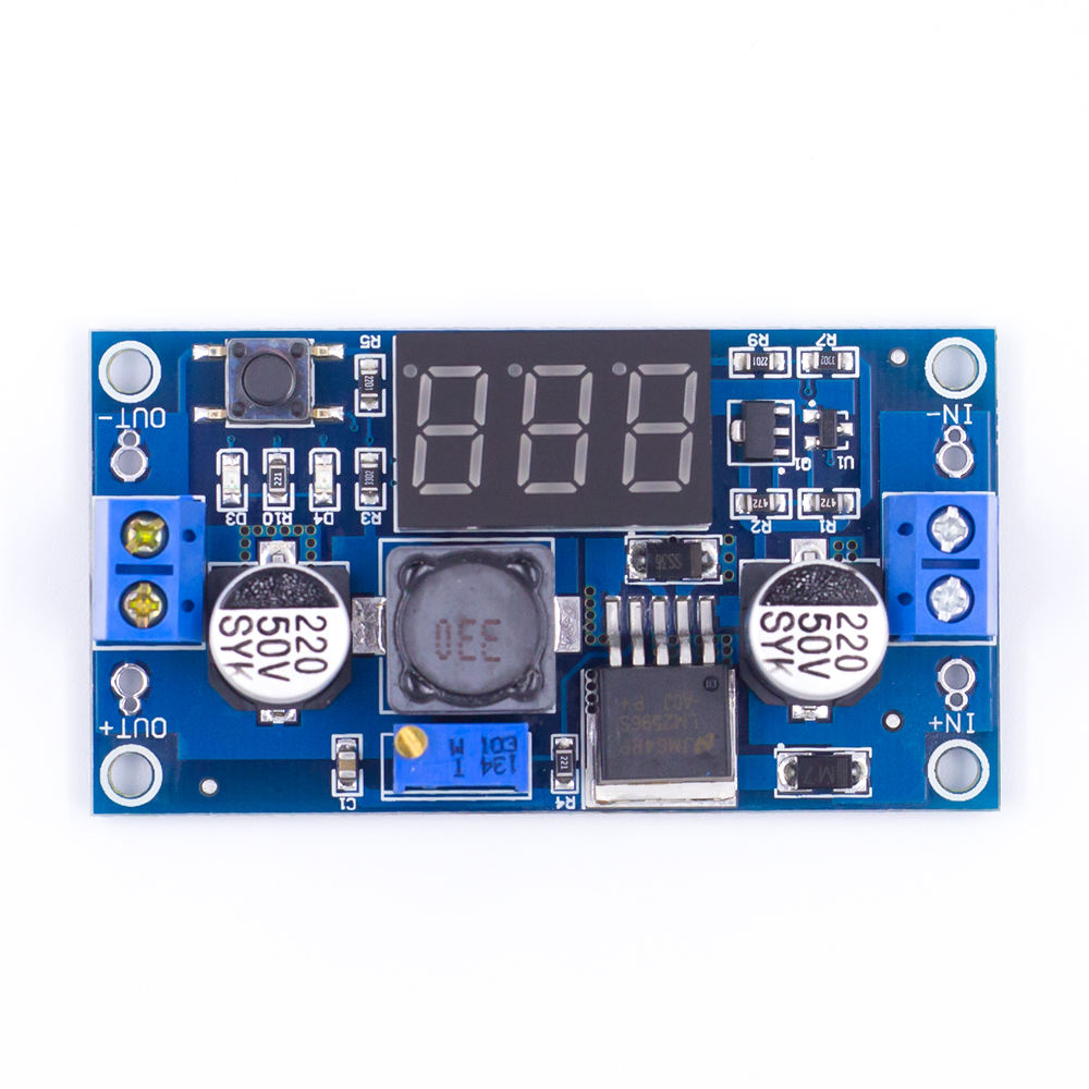 Grosir DC-DC Buck Converter Step Down LM2596 Voltage Regulator dengan Voltmeter LED Display