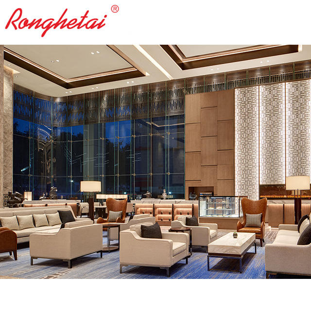 DT1002 Ronghetai customizable 5 star hotel public leisure area custom hotel lobby furniture