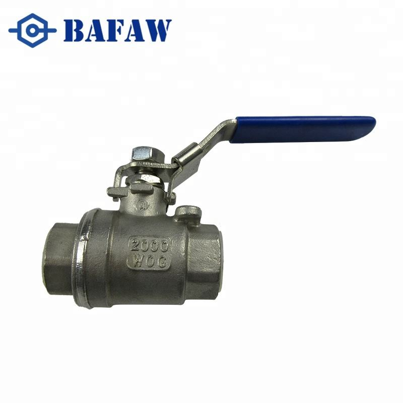 2 PC Stainless Steel CF8M Ball Valve 1000WOG