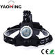 China Factory Price High Lumens Powerful LED Headlight OEM/ODM Aluminum Alloy Rechargeable Headlamp Camping