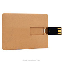 Business Wooden Credit Card Shaped  Usb Flash Memory  Drive