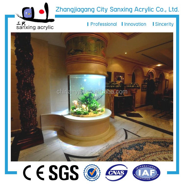 Professional design hot sale half round acrylic aquarium for ocean,fresh water aquarium fish