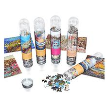hot sell 150pcs mini paper jigsaw puzzle in plastic tube with FAMA factory