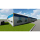 Design prefab insulated steel structure warehouse factory workshop light beverage building in Ecuador