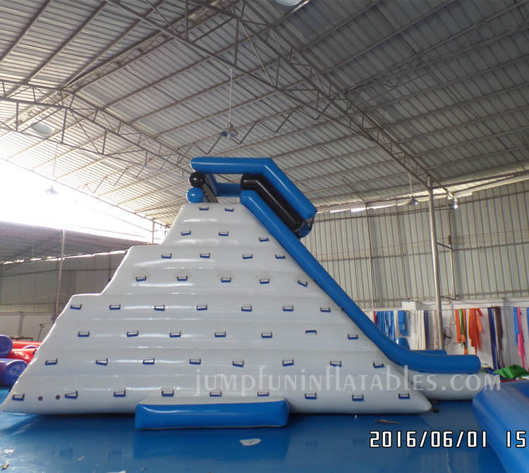 Large Floating Inflatable Mountain with slide,Huge Inflatable Iceberg/Giant water climbing wall water slide