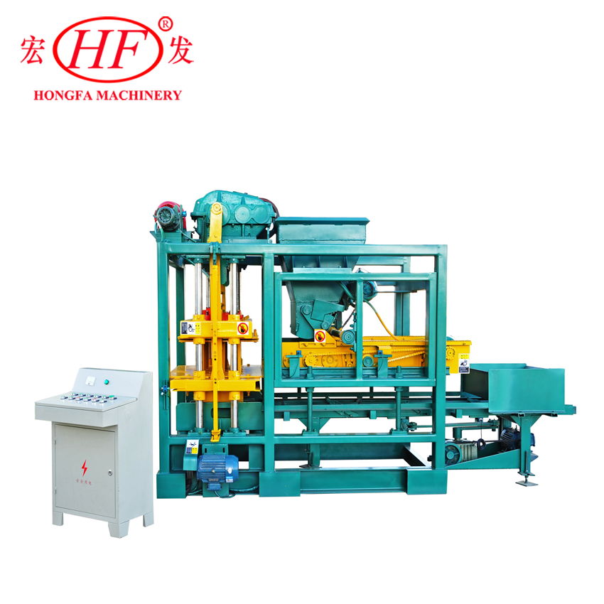 Fully Automatic Qtj4-25 Cement Hollow Interlock Paving Concrete Block Making Machine
