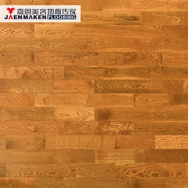 18Mm Chinese Natural Solid Smooth Wire Brushed Indoor Oak Wood Flooring