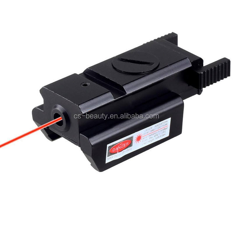 Mini Red Dot Laser Sight / Hunting Airsoft Compact Laser Designator With Mount For Pistol Air Gun Rifle