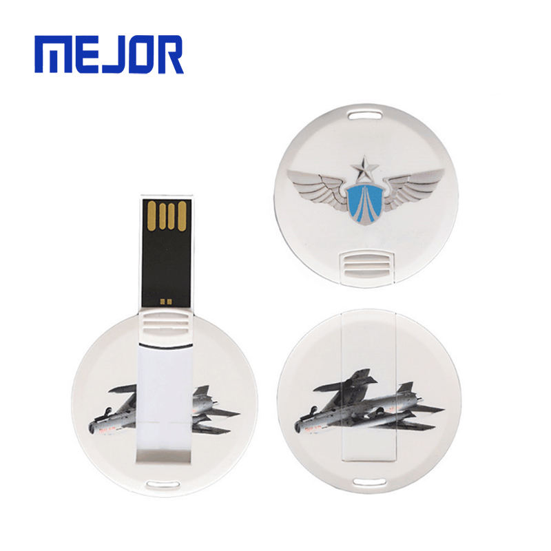 Tarjeta Usb memoria flash drive 2GB pendrive credit card type mini round flash disk USB business card