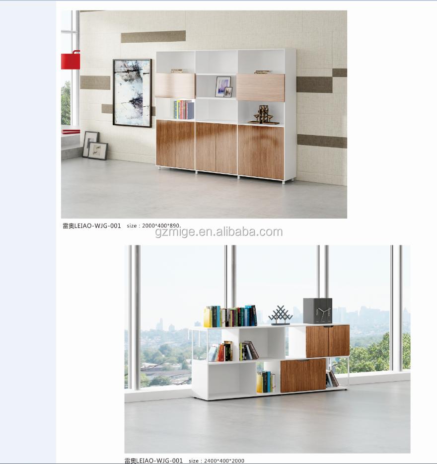 Muebles de diseño moderno gabinete de archivo abierto con estantes para libros