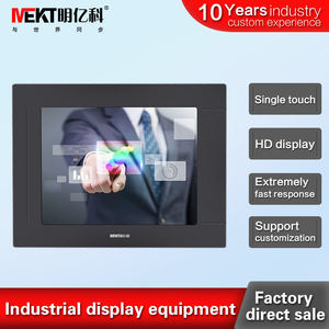 Industriële Embedded Aluminium Touch Display 6.4 Inch/6 Inch Weerstand Touch Screen Monitor 1024*768 Hd Dvi RS232