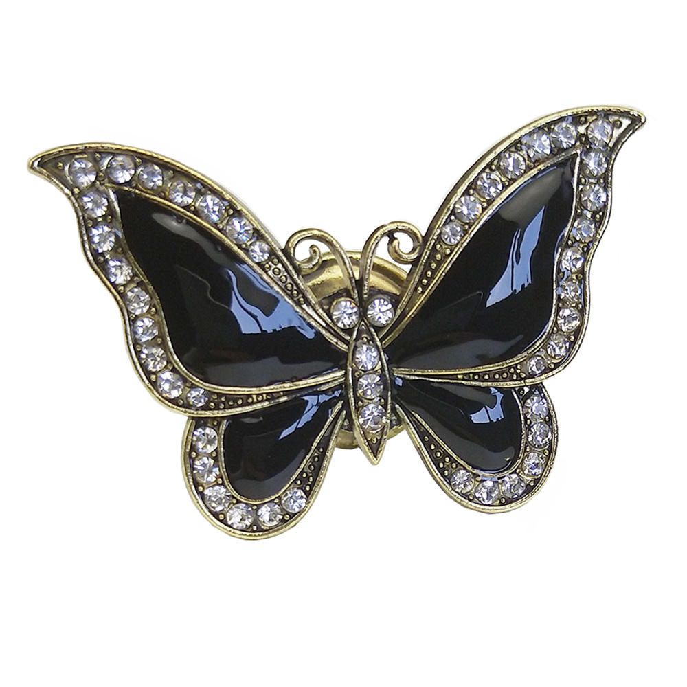enamel diamante butterfly drawer knobs,drawer handle