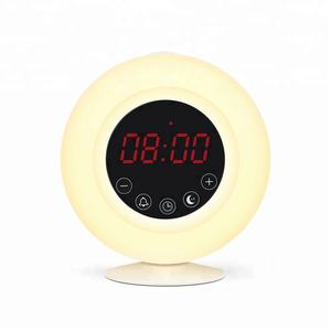 Sunset Wake Up Light Alarm Clock Bluetooth Speaker Cheap Am Fm Radio
