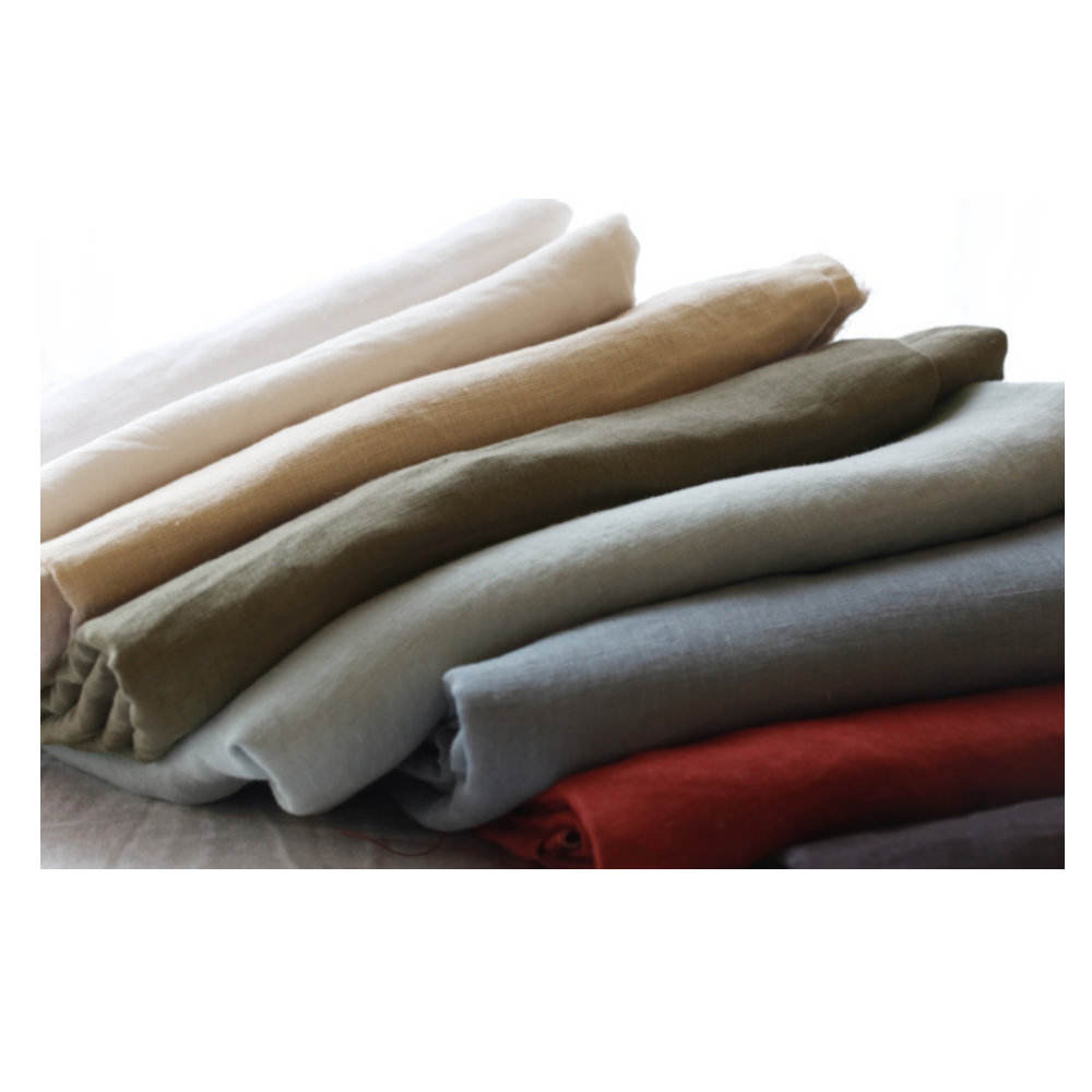Wholesale woven Nature organic 100% hemp fabric clothing bedding fabric