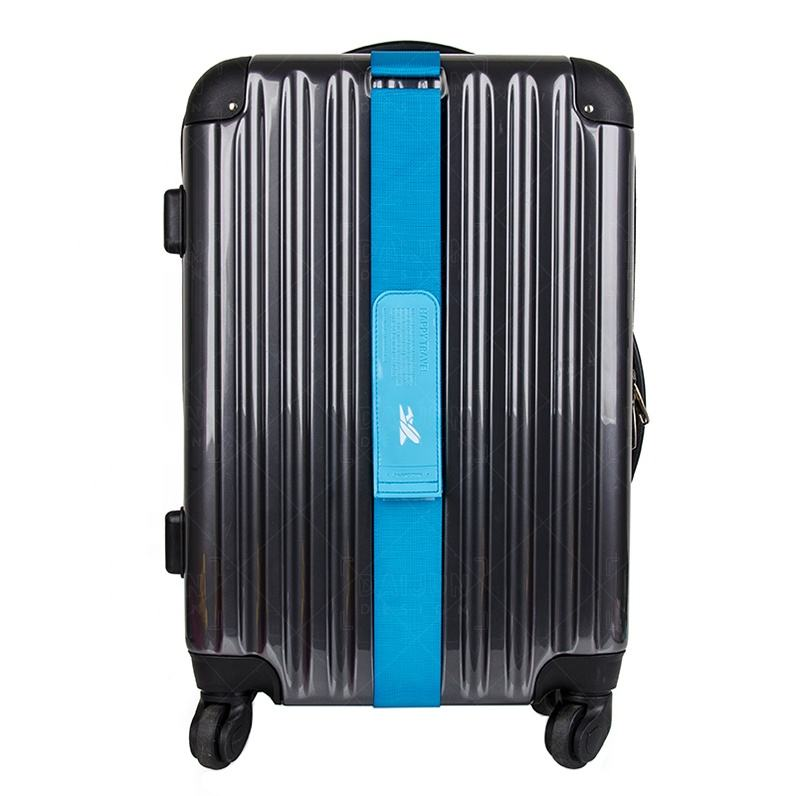 Kooler Heavy Superior Strength Extra Long Cross Luggage Strap Suitcase Travel Belt Tags