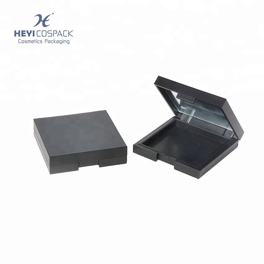 Классический квадратный порошок пластиковый контейнер пустые компактный корпус для продажи
