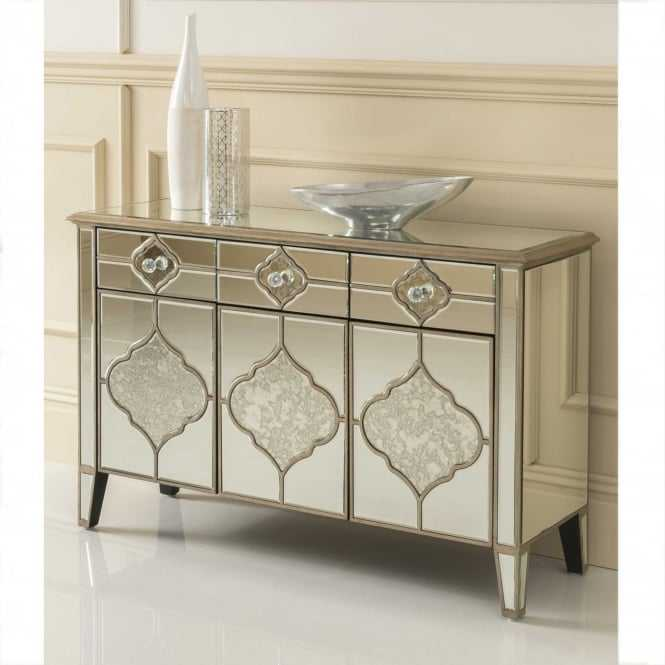 Diamond Crystal Hall Way Console Mirrored Sideboard TV Cabinet Table