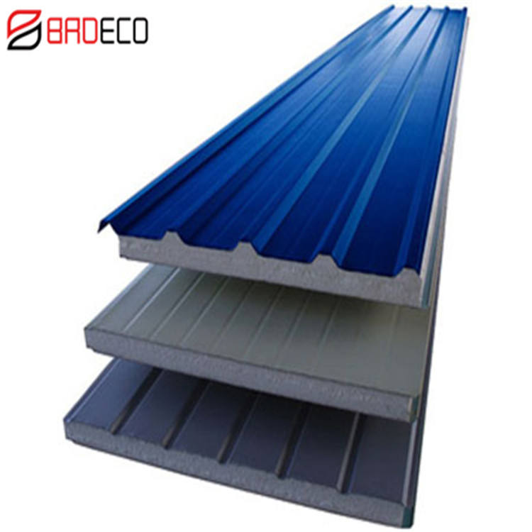 Factory Sale Fireproof 100mm Insulated EPS Sandwich Roof Panel