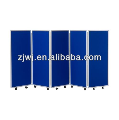 YDB-014 China manufacturer folding screen room divider with wheels