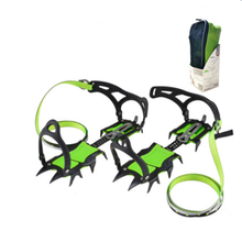 Fourteen teeth hiking crampons long teeth climbing gear ice axe ice grippers mountaineering equipment ice crampons