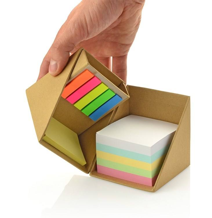 Custom Logo Printing Eco recycled Sticky Notes Folding Memo Cube with memo pad