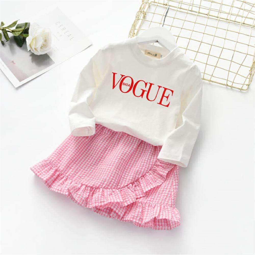 Korean style children wear Casual clothes pink tutu dress for baby girls 2pcs kid suit for 3 years old