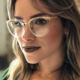 Sparloo 2057 Fancy Brand Vintage Round Optical Frame Glasses Dome Ready Stock for Women