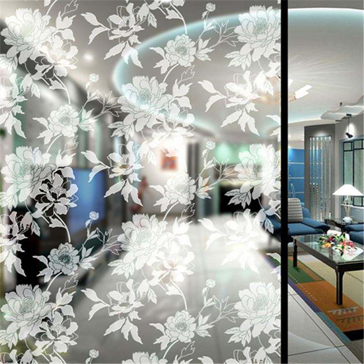 Wholesale clear cheap price acid etching painted glass for decoration