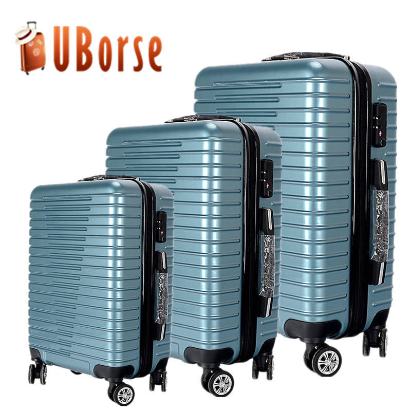 Uborse Koffer Sets 3 Pcs, Hand Bagage Case 20 Inch 24 Inch 28 Inch Bagage Trolley