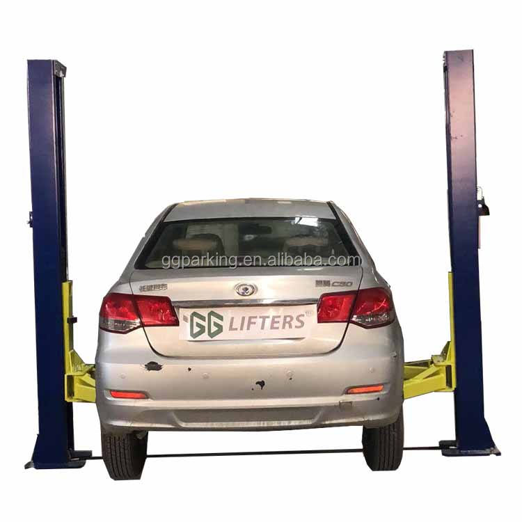 Automotive 2 Pole Floor Plate Car Vehicle Maintenance Lift/elevators