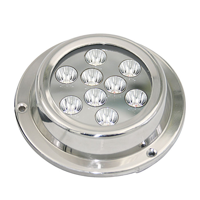 factory direct supply waterproof ip68 27w led underwater/marine/boat/yacht lamp