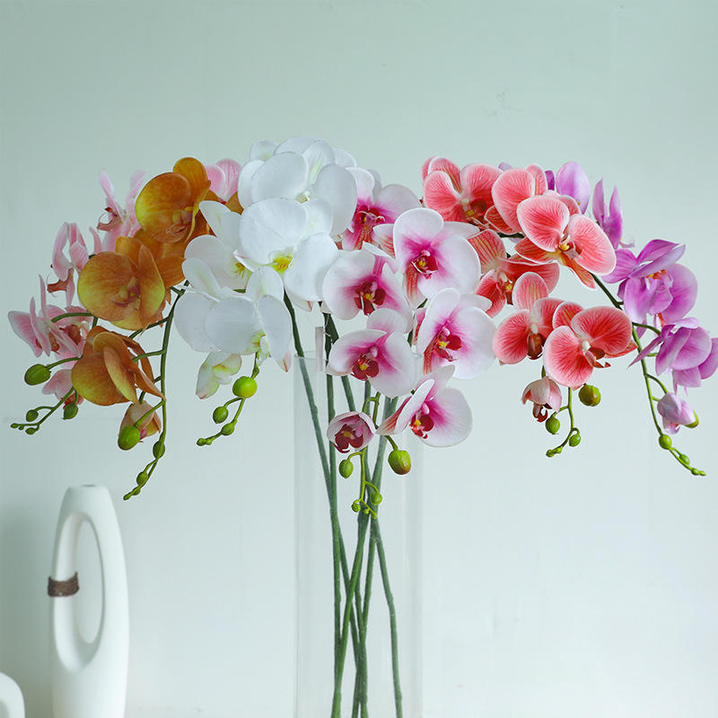 9 Heads Orchid Plant Artificial Flower For Wedding Wholesale .