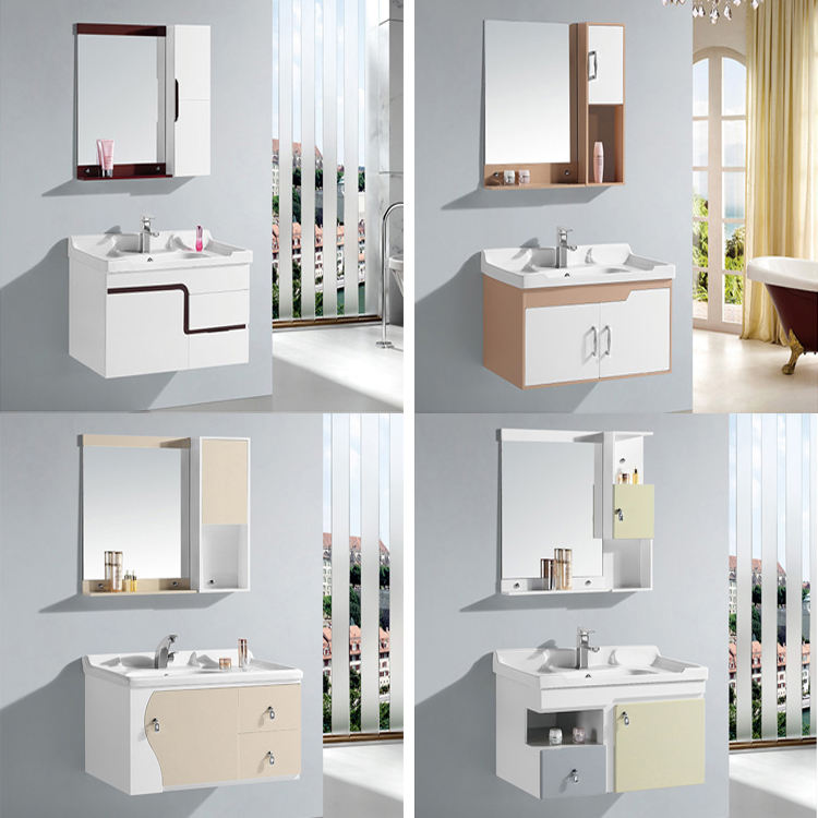 Customized Wall Mounted PVC Waterproof Bathroom Cabinet