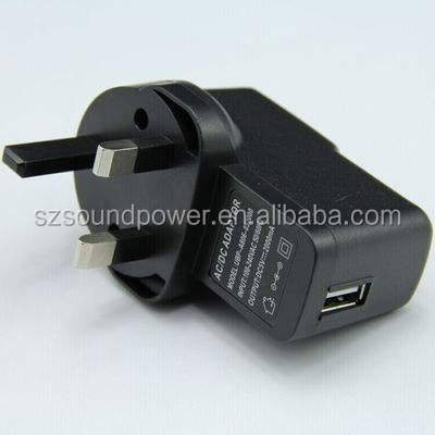 OEM pabrik harga 12 w dinding usb charger INGGRIS plug power adapter 6 v 2a usb wall charger