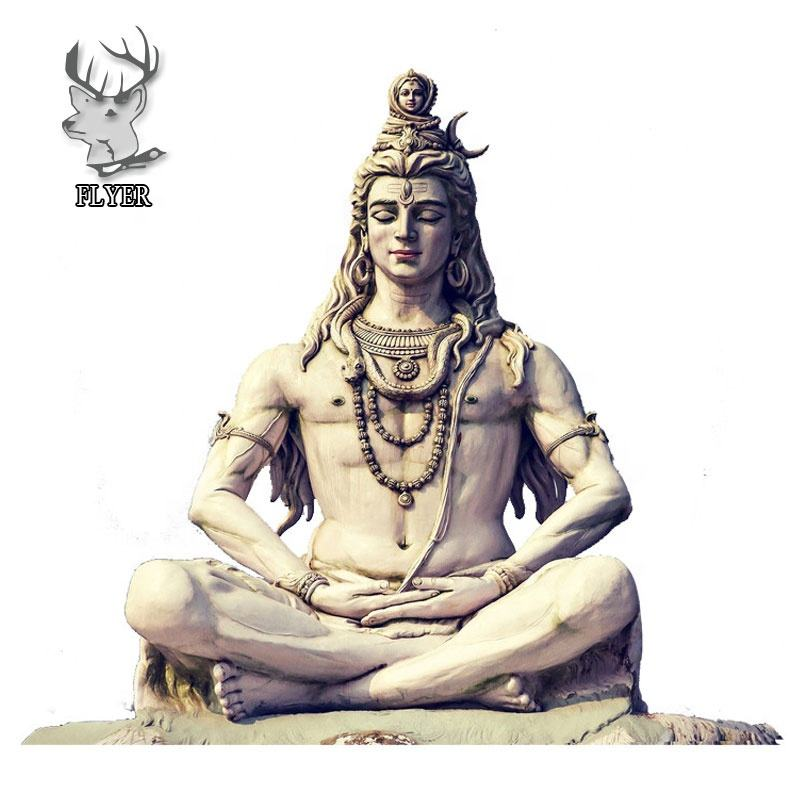 Wholesale White Marble Indian God Lord Shiva Stone Statue