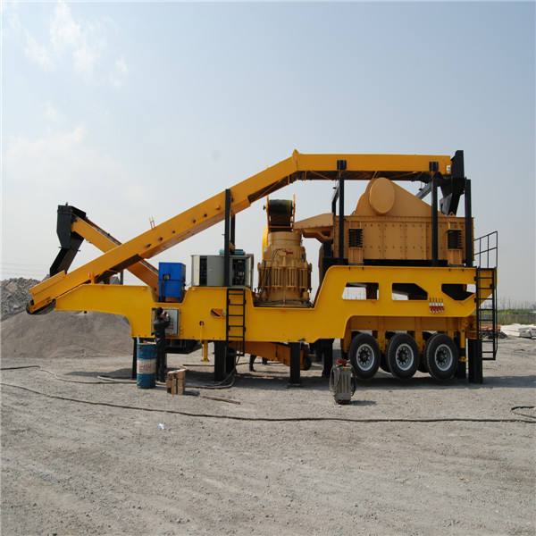 high efficiency portable type mobile jaw crusher approved CE