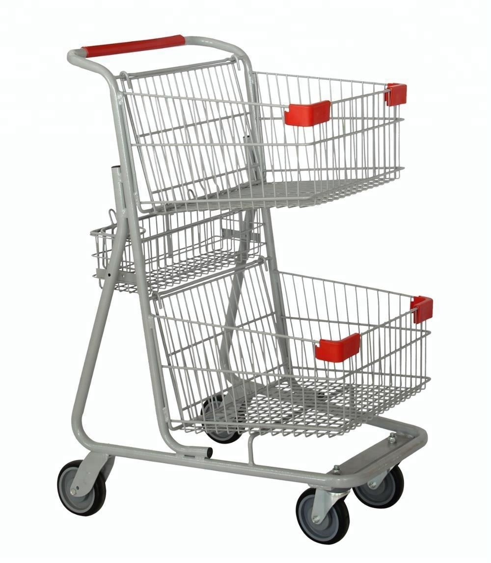 Canadian style supermarket shopping trolley cart