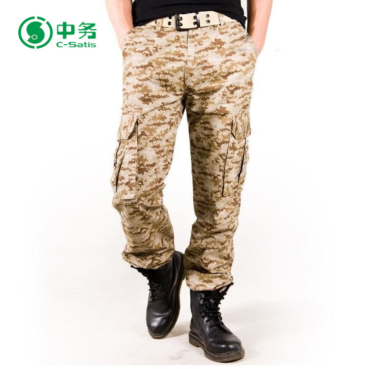 New Product Plus Size 6 Pockets Baggy Desert Camouflage Cargo Pants for Men